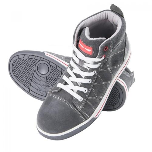 a320d53d LAHTI PRO Trzewiki buty robocze zamszowe szaro-czerwone rozmiar 44  /L3010844/